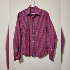 UNTUCKit Button Up Plaid Long Sleeve Shirt Slim